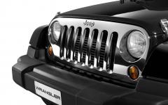 Griglia anteriore cromata per auto per Jeep Wrangler
