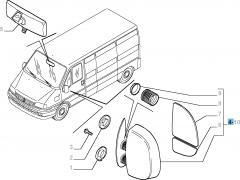 Specchietto retrovisore esterno sinistro per Fiat Professional Ducato