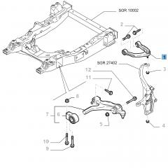 Braccio oscillante sinistro per sospensione anteriore superiore per Alfa Romeo 159