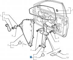 Alzacristallo elettrico sinistro per Fiat e Fiat Professional