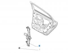 Alzacristallo elettrico posteriore destro