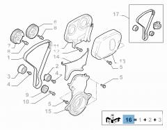 Kit Distribuzione (cinghia, tendicighia fisso e regolabile) - 3 pz
