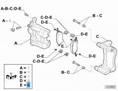 Pastiglia freno disco anteriore  (Set 4 pezzi) per 500Bev,Tipo-Egea MCA