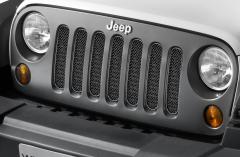 Griglia anteriore nera satinata per Jeep