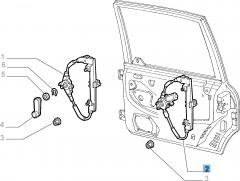 Alzacristallo elettrico posteriore destro per Fiat e Fiat Professional