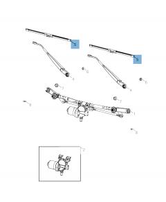 Spazzola tergicristalli anteriori per Gladiator/Wrangler